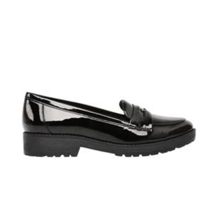 Anne Klein I Flex Patent Leather Penny Loafers